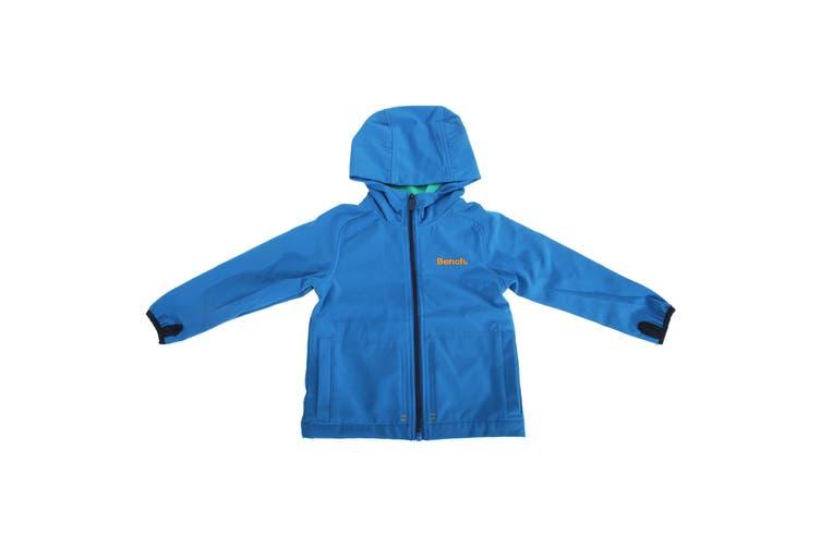Bench Childrens Boys Long Sleeve Waterproof Hooded Jacket (Blue) (13-14 Years)