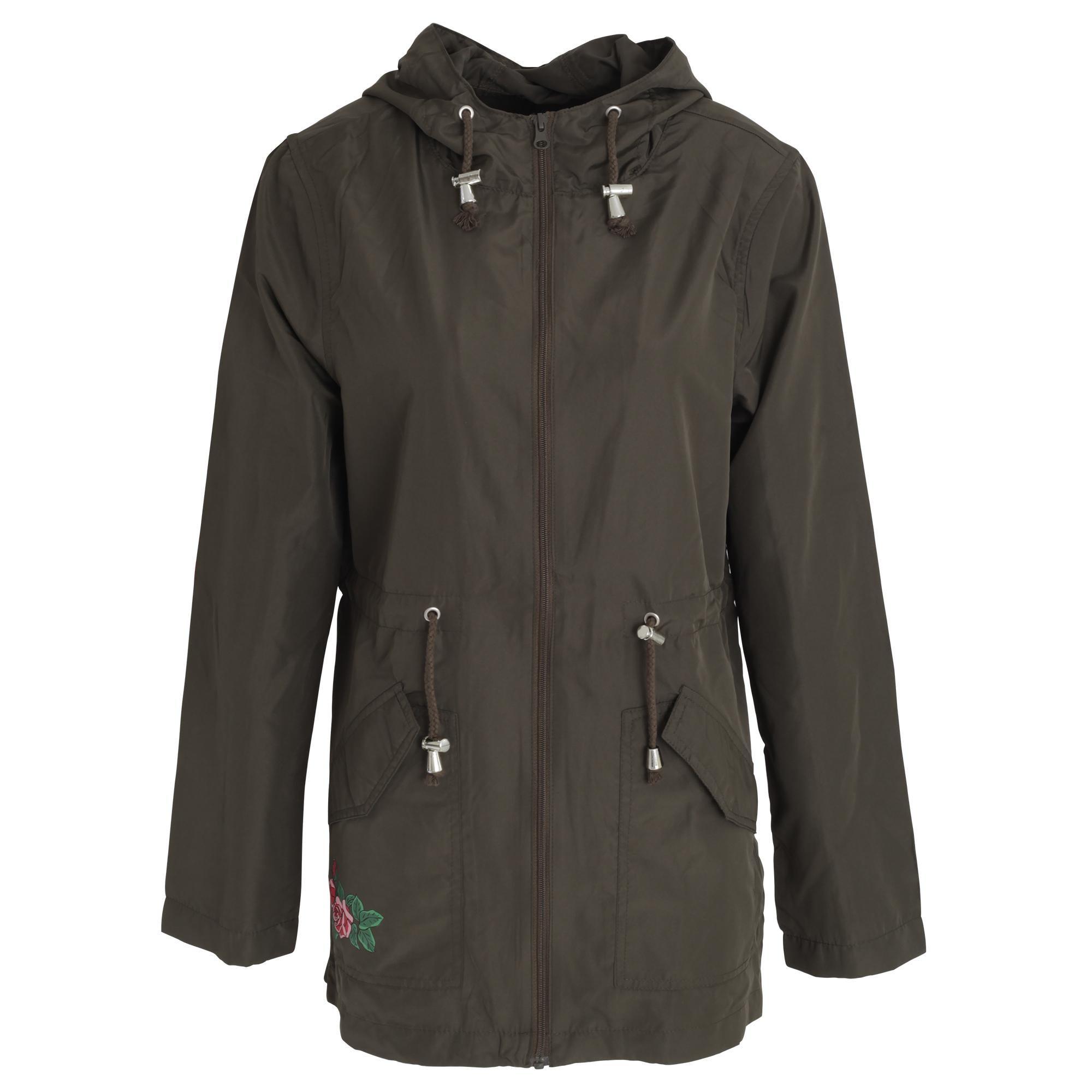 Brave Soul Childrens//Girls Safari Full Zip Parka Jacket