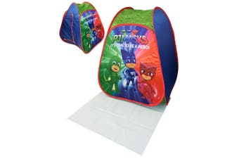 PJ Masks Childrens/Kids Pop Up Play Tent (Green/Red/Blue) (One SIze)
