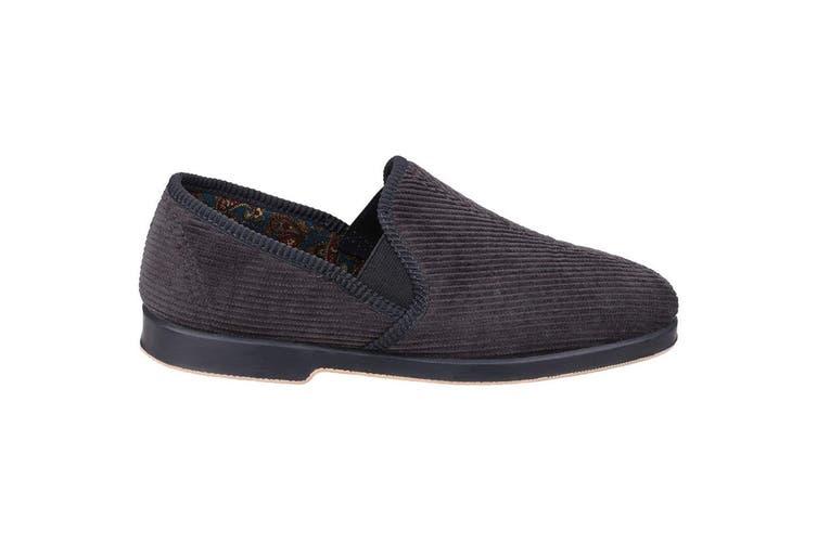GBS Exeter Mens Twin Gusset Slipper / Mens Slippers (Grey) (10 UK)