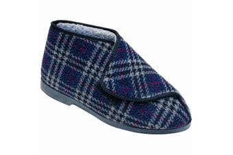 GBS William Great British Touch Fastening Bootee / Mens Slippers / Mens Bootee (Check) - UTFS1165
