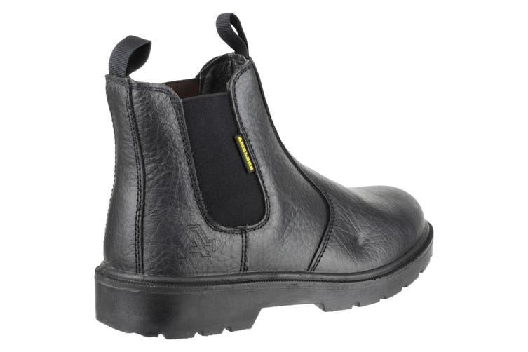 Amblers Steel FS116 Pull-On Dealer Boot / Unisex Boots (Black) (4 UK)