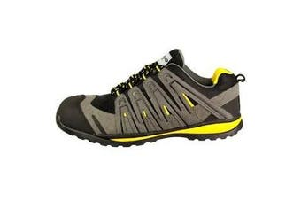 Amblers Safety FS42C Safety Trainer / Mens Shoes (Black/Grey/Yellow) - UTFS1706