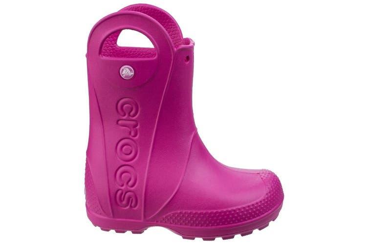 Crocs Childrens/Kids Handle It Wellington Boots (Candy Pink) (9 UK Toddler)