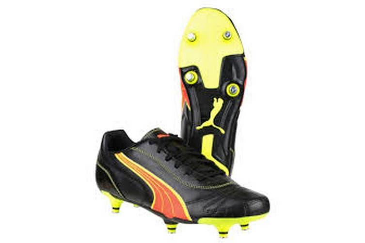 Puma Kratero Screw-in Boot / Mens Football Boots (Black/Pea) (12 UK)