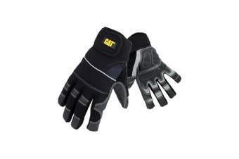 Cat 12217 Adjustable Work Gloves (Black/Grey) - UTFS2377