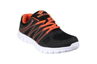 Mirak Milos Lace Mens Sports Shoe / Mens Trainers (Black/Orange) (10 UK)