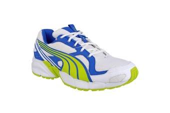 Puma Axis Mesh V2 Lace Up Boys Trainers (Lime/Blue) - UTFS2413
