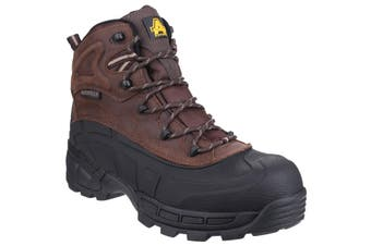 Amblers Mens FS430 Orca S3 Waterproof Leather Safety Boots (Brown) - UTFS3156