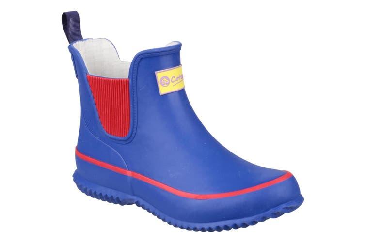 Cotswold Childrens/Kids Bushy Wellington Boots (Blue) (28 EUR)