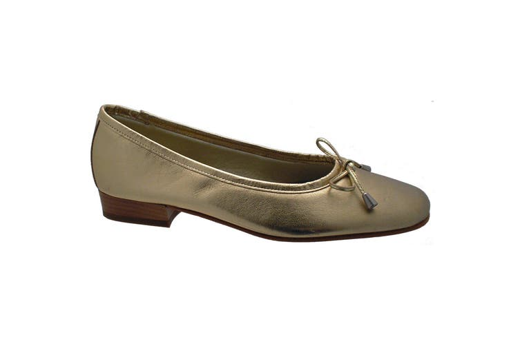 Riva Provence Ladies Leather Ballerina / Womens Shoes (Gold) (5.5 UK)