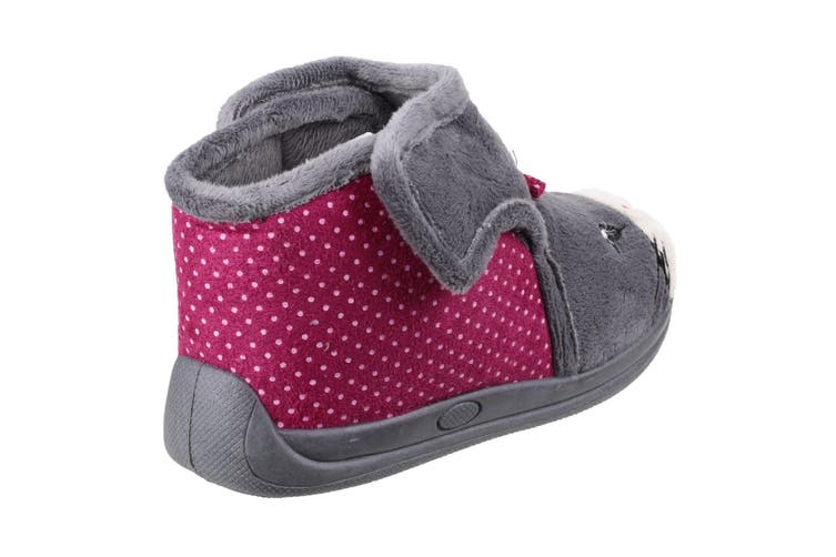 Mirak Childrens Girls Kitty Slippers (Grey) (26 EUR)