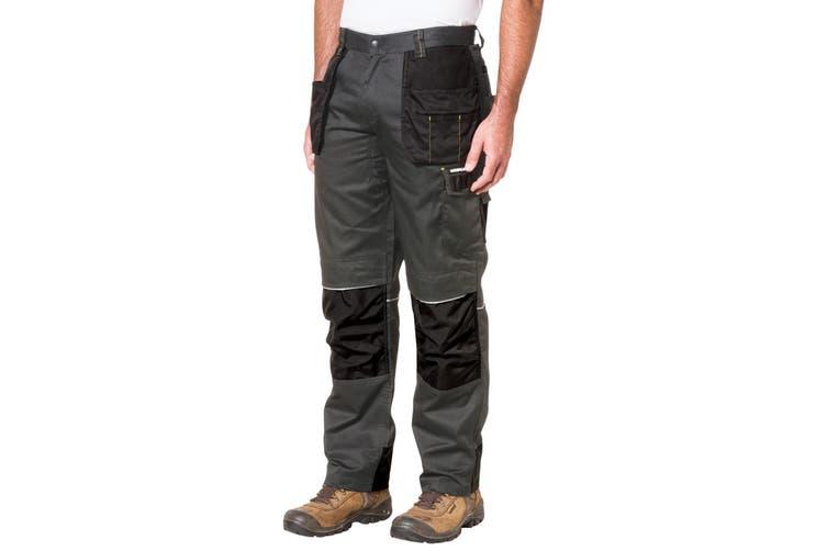 Caterpillar Mens C1810002 Skilled Ops Workwear Trousers (Dark Shadow Black) (36L)