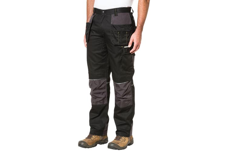 Caterpillar Mens C1810002 Skilled Ops Workwear Trousers (Black) (40S)