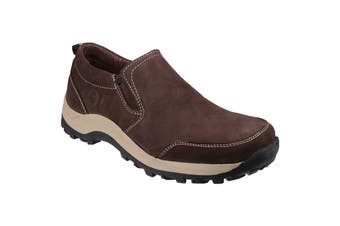 Cotswold Mens Sheepscombe Slip On Twin Gusset Shoes (Brown) (11 UK)