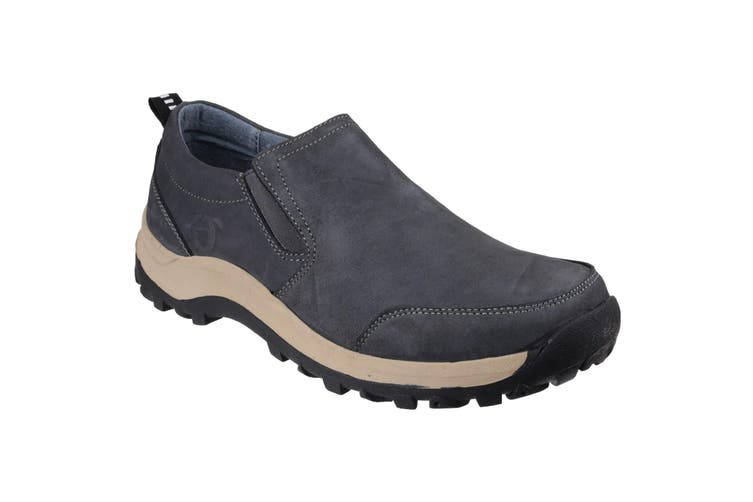 Cotswold Mens Sheepscombe Slip On Twin Gusset Shoes (Navy) (6 UK)