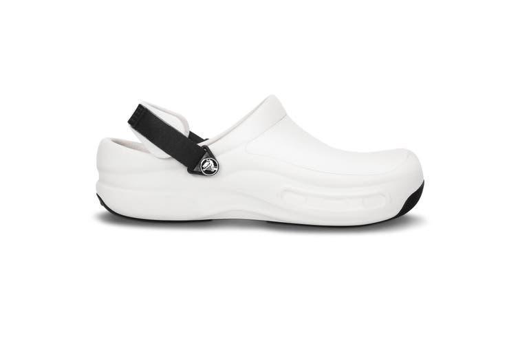 Crocs Unisex Bistro Pro Touch Fasten Safety Clog (White) (4 UK)