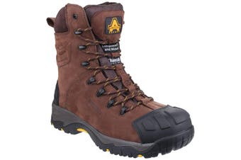 Amblers Mens AS995 Pillar Composite Waterproof Zip Safety Hi-Boot (Brown) - UTFS3722