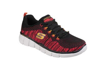 Skechers Childrens/Boys Equalizer 2.0 Perfect Game Memory Foam Lace Up Trainers (Black/Red) (12.5 Child UK)