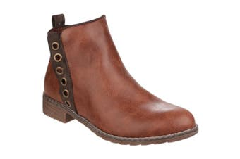 Divaz Womens/Ladies Demi Pull On Ankle Boots (Tan) (6 UK)