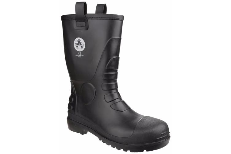 Amblers Safety Unisex FS90 Waterproof Pull On Safety Rigger Boot (Black) (11 UK)