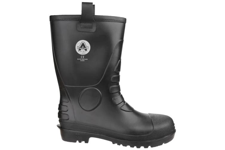 Amblers Safety Unisex FS90 Waterproof Pull On Safety Rigger Boot (Black) (12 UK)