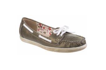 Fleet & Foster Womens/Ladies Melbeck Lightweight Boat Shoe (Green) (5 UK)