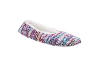 Divaz Womens/Ladies Morzine Knitted Slippers (Pink) - UTFS4487