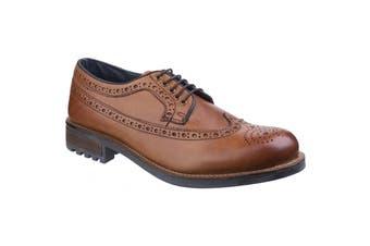 Cotswold Mens Poplar Brogue Dress Shoes (Tan) (9 UK)