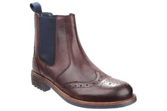 Cotswold Mens Cirencester Chelsea Brogue Shoes (Brown) (9 UK)