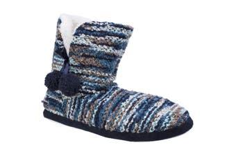 Divaz Womens/Ladies Vienna Knitted Bootsie Slippers (Blue) - UTFS4837