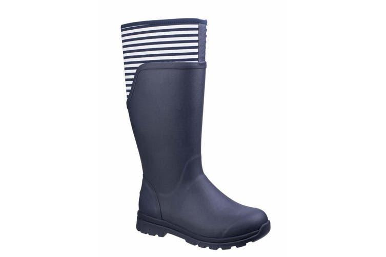 Muck Boots Womens/Ladies Cambridge Wellington Boots (Navy/White Stripes) (4 UK)