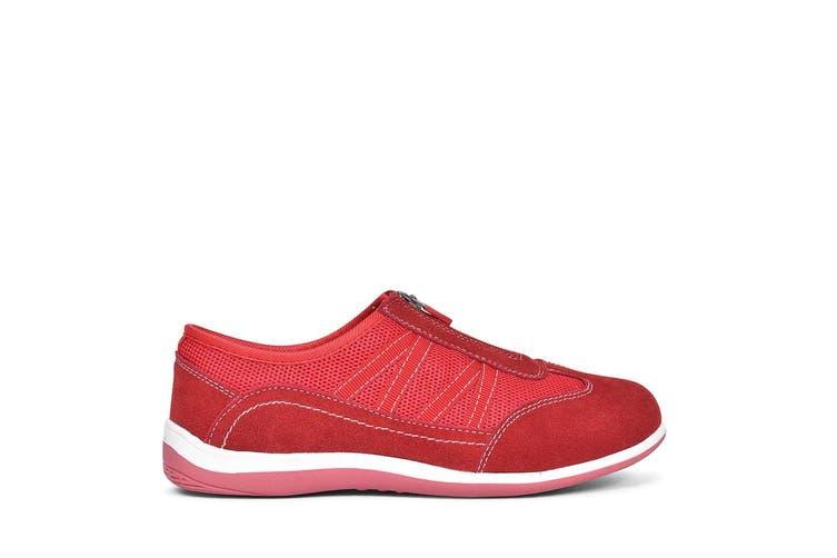 Fleet & Foster Womens/Ladies Mombassa Comfort Shoes (Red) (7 UK)