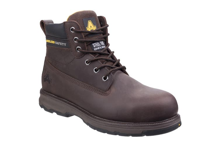Amblers Safety Mens AS170 Lightweight Full Grain Leather Safety Boot (Brown) (10 UK)