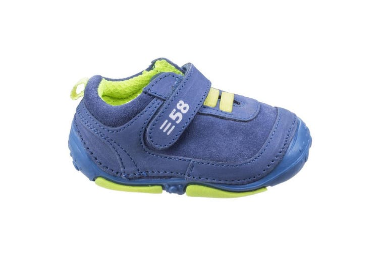 Hush Puppies Childrens/Boys Harry Touch Fastening Leather Trainers (Blue) (2.5 Toddler UK)