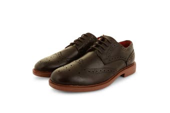 Lambretta Mens Spencer Brogue Lace Shoes (Dark Brown) (8 UK)