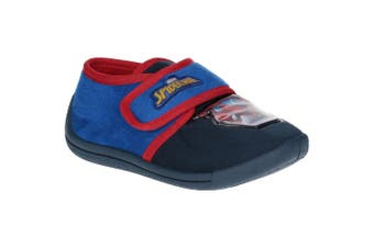 Spider-Man Childrens Boys Touch Fastening Slippers (Black/Blue/Red)