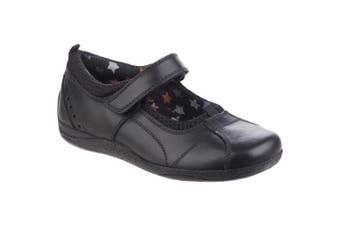 Hush Puppies Childrens Girls Cindy Back To School Shoes (Black) (13.5 Child UK)