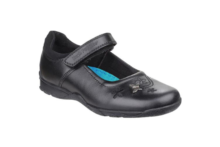Hush Puppies Childrens Girls Clare Back To School Shoes (Black) (13.5 Child UK)