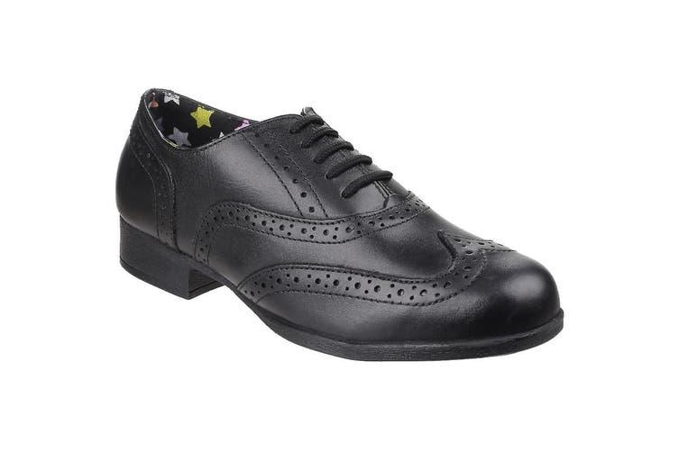 Hush Puppies Girls Kada Senior School Shoes (Black) (8 UK)