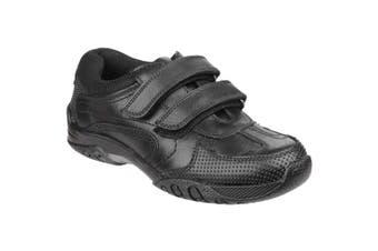 Hush Puppies Childrens Boys Jezza Back To School Shoes (Black) (13.5 Child UK)