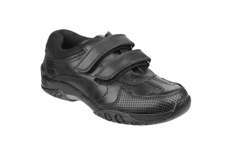 Hush Puppies Childrens Boys Jezza Back To School Shoes (Black) (1.5 UK)
