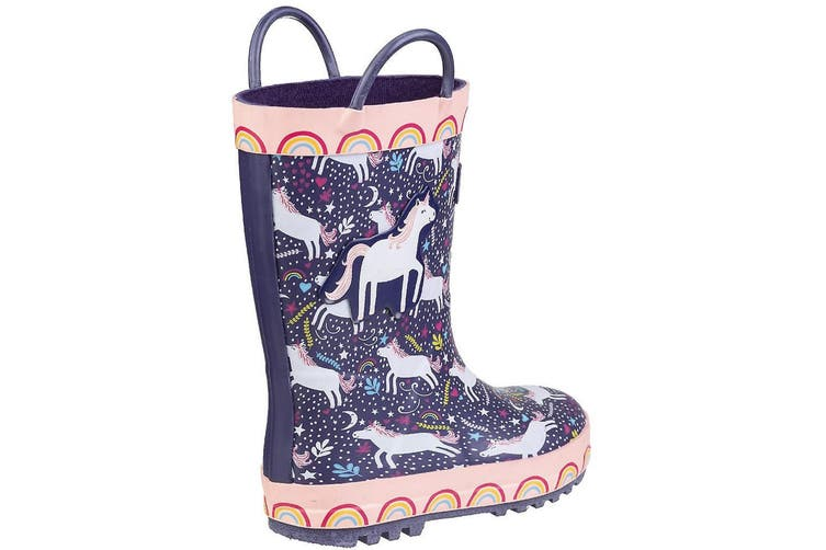 Cotswold Childrens/Kids Sprinkle Wellington Boots (Purple Unicorn) (8 Child UK)