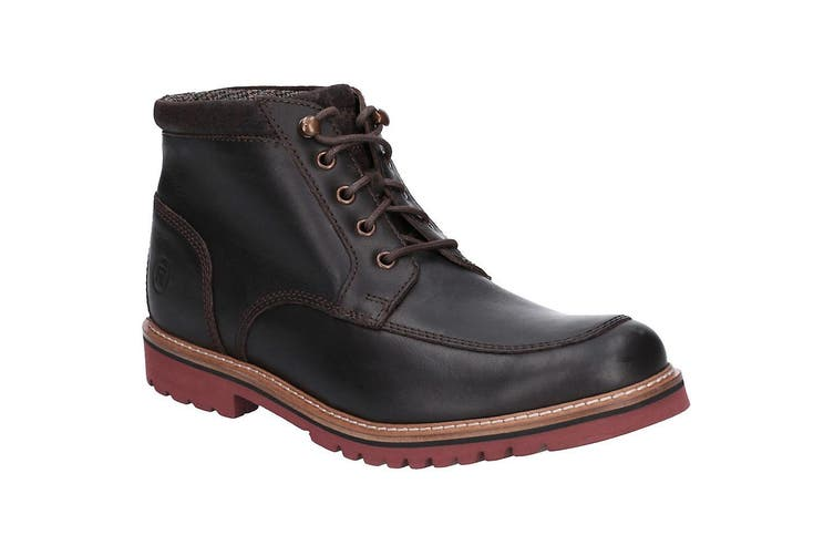 Rockport Marshall Mens Rugged Moccasin Toe Shoe (Dark Brown) (8 UK)