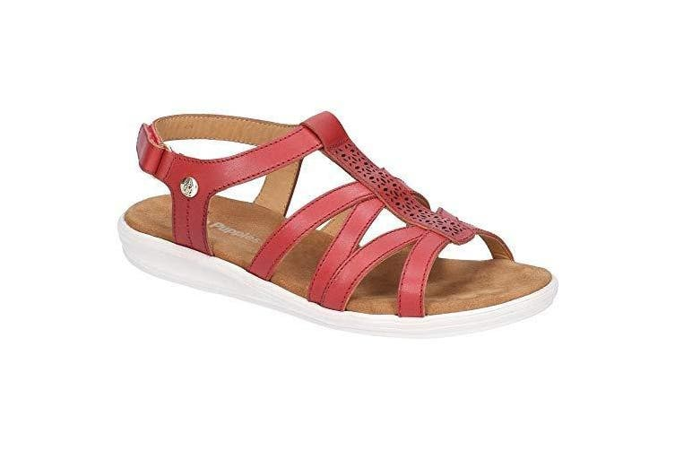 Hush Puppies Womens/Ladies Callie Touch Fastening Sandals (Red) (6 UK)