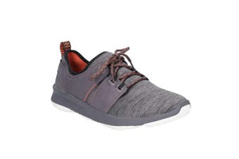 Hush Puppies Mens Geo Lace Up Trainers (Dark Grey) (8 UK)