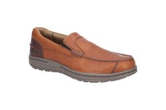 Hush Puppies Mens Murphy Victory Moccasin Shoes (Tan) (9 UK)