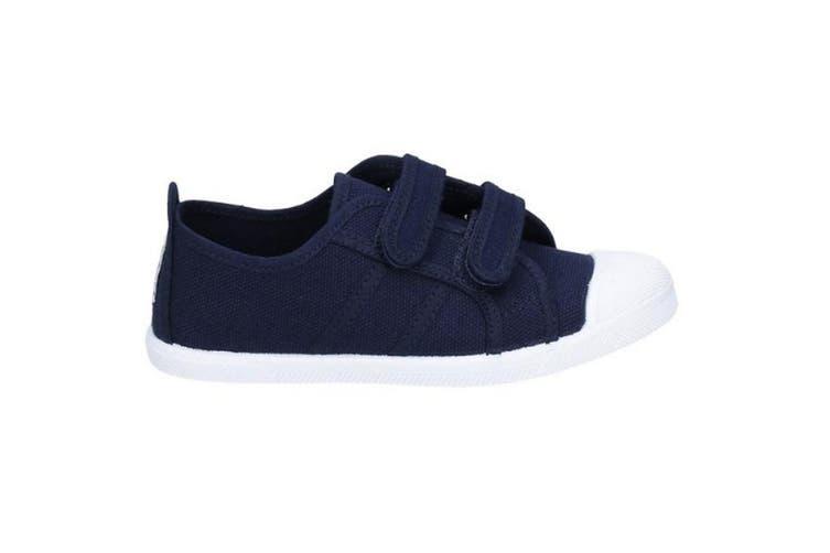 Flossy Sasha Girls Junior Touch Fastening Shoe (Navy) (10 Child UK)