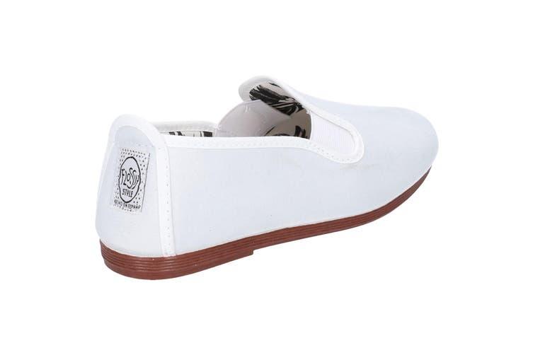 Flossy Crack Infants Slip On Shoe (White) (8 Child UK)
