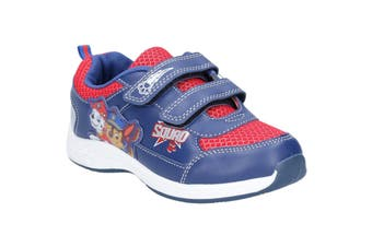 Leomil Boys Paw Patrol Touch Fastening Trainer (Cobalt Blue/Red) (11.5 Child UK)